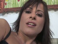 French brunette double duty hard in cuckold video