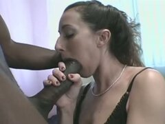 Skinny white girl crazy for black cock