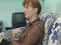 A hot redheaded mature has all of her holes brutally banged by several schlongs