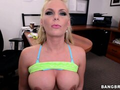 Voluptuous blonde with a massive ass teases in a sexy POV video