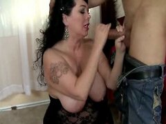 Hot Cock Sucking BBW Alexis Rides Cock