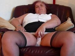 Dawn showing herself in Panties and Stockings
