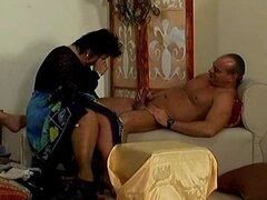 Crazy old mom gets hard fucked and does oral sex for cu