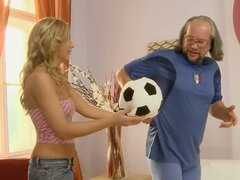 Goldie Locks Gets  A Creampie From Old Creep
