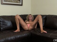 Groovy steaming bitch Brett Rossi is spearing the shaved clam