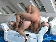 Beautiful Busty Blonde Big Blowjob With Hard Fucking