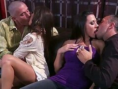 Hot Swinger Foursome with Pornstars Rachel Roxxx...