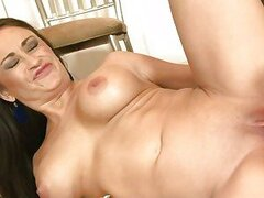 Lusty milf Claudia Valentine sucks hard on a stiff dick before getting her pussy pounded
