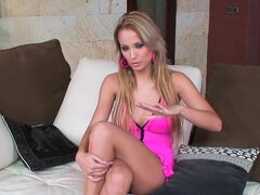 Charming blonde hottie Regina Ice gives an interview