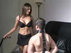Mistress abuses her submissive