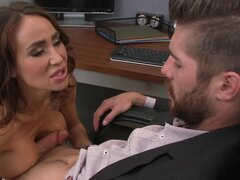 Hungry boss is fucking his enticing secretary