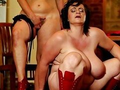 Painful cock controling BBW femdom action