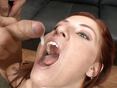 Very few things can beat the fiery passion of a redhead in heat...especially when she wants some cocks in her mouth! Today the tattoo'd and willing Tricia Oaks gets her mouth stretched wide by a group of big cocks...and she's up for the challenge! After g