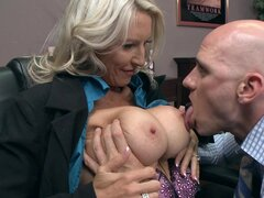 Mature blonde is wild and horny