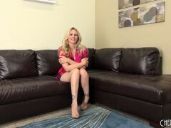 Julia Ann feels lucky today because she will masturbate...