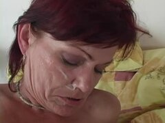 Lewd mature redhead Agatha gets fucked by a lewd doctor