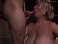 Granny have sex with a nice young dick