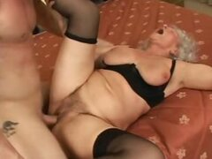 Old Slut Getting Some Hard Young Cock & Creampied
