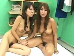 Three Asian Lesbians Take Turns To Fuck A Strapon Dildo and a Cock