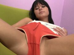 Susan G takes off her tight sexy panties with pleasure
