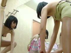 Spy cam in changing room shoots nude girl at the mirror