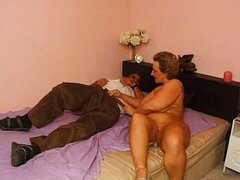 Hot granny likes to suck a dick