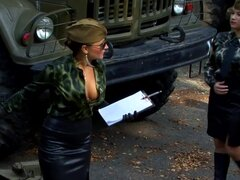 Well dressed women do military training