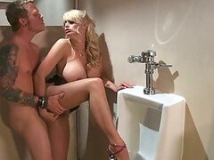 Gorgeous Blonde Milf Stormy Daniels Has Hardcore Sex In The Bathroom