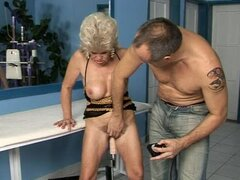 Effie gets her old pussy fucked with all kinds of toys