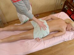 Steamy raunchy massage clip