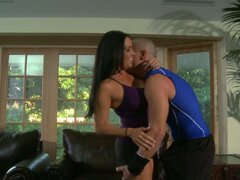 Stunning milf Vanilla Deville gets really horny for her fitness trainer