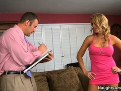 Charisma Cappelli uses her charisma to seduce the salesman then blows him