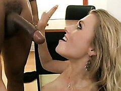 Saucy lover Michelle Moist gets an awesome reward blasting on her mouth