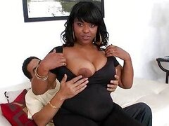 Pretty ebony Dana Dior picked up and fucking
