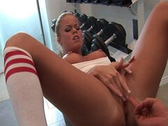fit and busty Nikki Delano gets rammed by her trainer