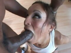 Amber Rayne Gags On A Big Cock Until Getting A Facial