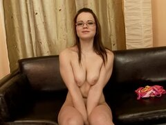 Elizabeth the sweet babe in glasses gets fisted deep