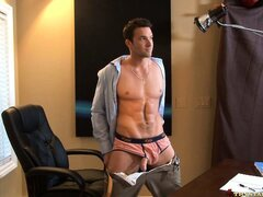 Danny changes the focus of the photo shoot and gets undressed