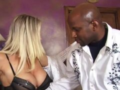Hot Milf with natural big tits takes a pounding by a Monster cock!