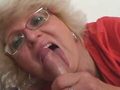 Granny orders him to pleasure her