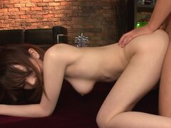 Asian babe is eating fresh creampie