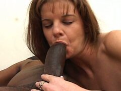Nice brunette milf drilled hard by a big black cock