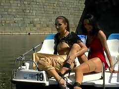 Exhibitionist Wetlook Euro Babes Getting Wet and Messy In Public