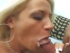 A Mom Sucks A Dude's Cock & Swallows Jizz.
