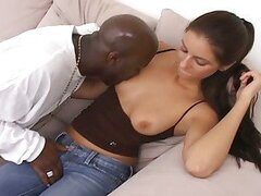Big black cock loves chasing white slut