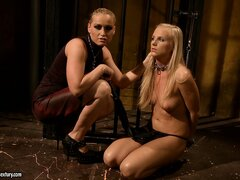 Barbie's ready for her fall from grace in Mistress Kathia's dungeon