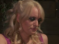 Tipsy blonde milf Stormy Daniels hooks up with young dude at the bar