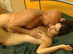 Young slut fucking a grandpa