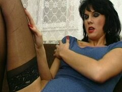 Brunette mom likes her neighbor's cock