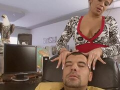 MILF Hairdresser Getting Fucked in Her Shop by Costumer